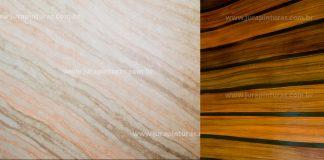 Imitação de madeira e Mármore